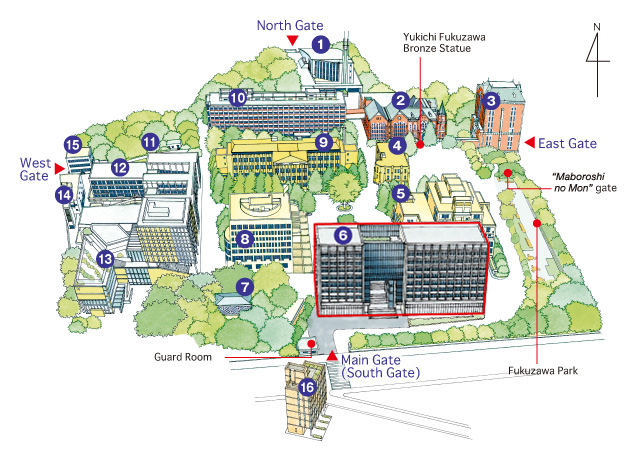Mita Campus Map